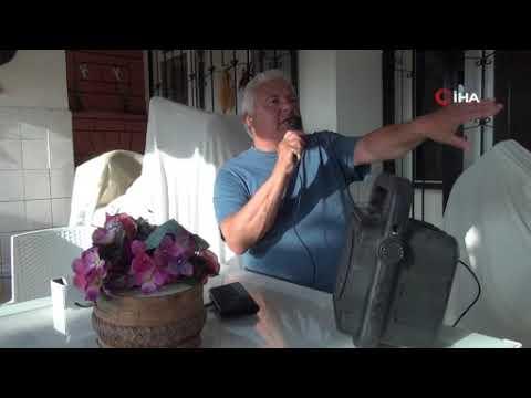 Balkonuna polis sirenli ses sistemi kurdu