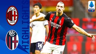 Milan 2-0 Bologna | Ibrahimović Scores Twice For Hosts! | Serie A TIM