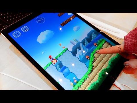 Super Mario Run demo at the Apple Store on an iPad Pro!