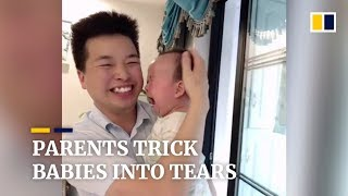 Chinese parents are tricking their babies into crying on cue