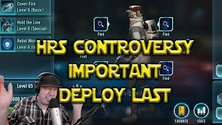 Star Wars: Galaxy Of Heroes - Hoth Rebel Soldier Controversy - Important DON