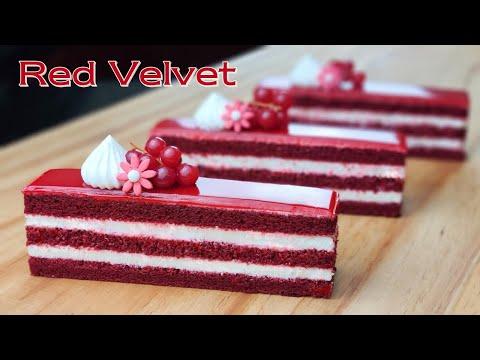 컵 계량 / 아름다운 레드 벨벳 케이크 / Beautiful Soft and Fluffy Red Velvet Cake Recipe / Cream Cheese Frosting