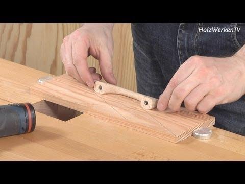 Möbelbau - So platzieren Sie Möbel-Griffe haargenau