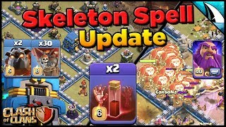 *wrecking Th 12 Bases!!* New Skeleton Spell In Upcoming Update   Clash Of Clans