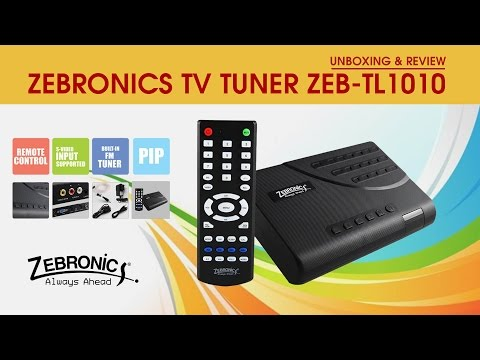 Zebronics TV Tuner ZEB TL1010 (Unboxing & Review)