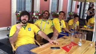 Болельщики из Бразилии кричат Уруй Айхал