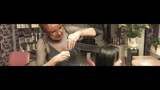 8082 Anja Young Asian Girl Haircut In Vintage Salon In Berlin Trailer