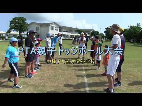 種子島の学校活動:南界小学校PTA親子ドッジボール大会2017年