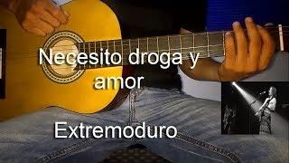 Aprende a tocar la canción: Necesito Droga y Amor - extremoduro   Tutorial Juancho Guitarra