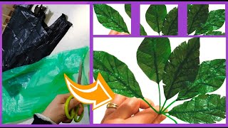 Making Awesome Leaves With Plastic Carry Bags | DIY Home Decor | DIY Recycling | Recicla Bolsas