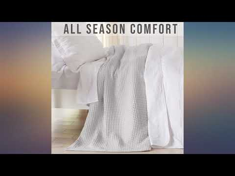 100% Cotton Waffle Weave Thermal Blanket. Super Soft Season Layering. Mikala review
