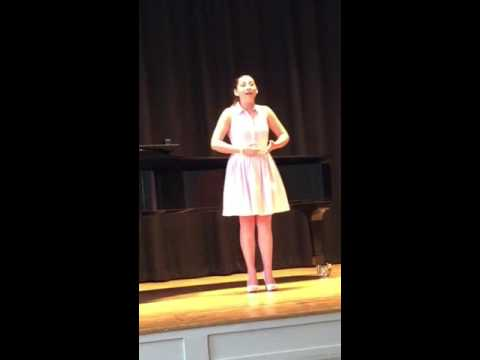 """My performance of Quando M'en Vo from La Boheme at the Schmidt Youth Vocal Competition in which I won the """"Broadway Bound"""" award!"""