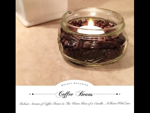 How to  Create a Wonderful Scent for your home  Using Coffee Beans & Tea Lights