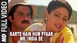 'Karte Hain Hum Pyaar Mr. India Se' Full VIDEO Song - Mr
