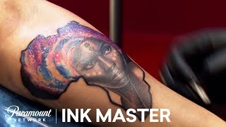 Galaxy Tattoos Elimination Challenge Official Highlight | Ink Master: Grudge Match (Season 11)