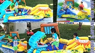 INTEX Dinosaur Play Center | Summer Fun | Play Time | Liam and Taylor's Corner