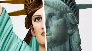 how the STATUE OF LIBERTY looked in REAL LIFE