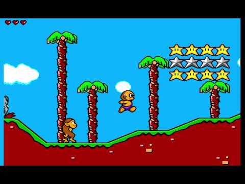 892 Toto World 3 Movie mode Sega Master System SMS, HD 60fps