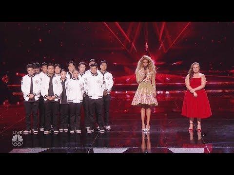 Results Quarter Finals  Yoli Mayor Just Jerk - Judges Save America's Got Talent 2017  -Live Vote (видео)