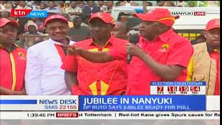 Jubilee in Nayuki: Uhuru asks residents to turn out in large numbers and vote in Jubilee