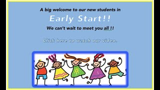 Welcome to Our New Early Starters June 2020