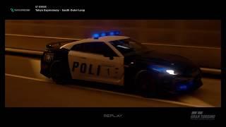 Gran Turismo®SPORT - GT-R Police chase in Tokyo