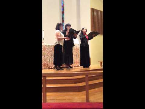 Johann Sebastian Bach Terzett from B Minor Mass with Anna Marie D'Ambrosio (Soprano) and Diane LaSala (Soprano I) -- Tamara is Mezzo Soprano