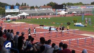 Niort 2018 : Finale 110 m haies Espoirs (Dylan Caty en 13''81)