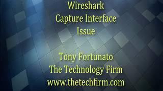 Wireshark Capture Interface Issue