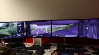 Euro Truck Simulator 2 - Custom Setup 4 Monitors