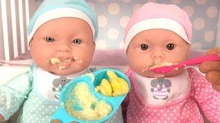 Routine du matin Poupons Morning Routine Bébé Mange sa Purée