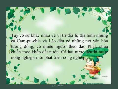 Lớp 5   Địa lí   Bài  Các nước láng giềng của Việt Nam