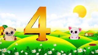 🐥 Детский мультфильм 👶🏼Маленький математик🌞 Учим считать - цифра 4 🕉