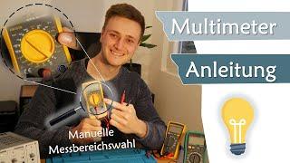 Anleitung Multimeter für Einsteiger, wie geht die Messbereichsauswahl? | Geräte #11