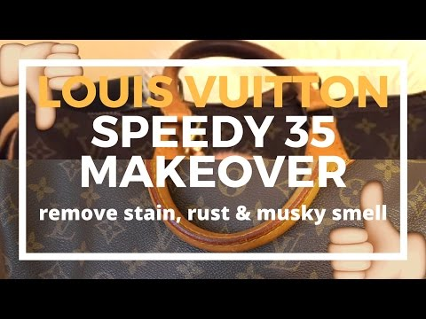 Video ♡Preloved Speedy 35 Makeover♡ | Cleaning Vachetta, Brass, Getting Rid of Musky Smell | Cherry Tung