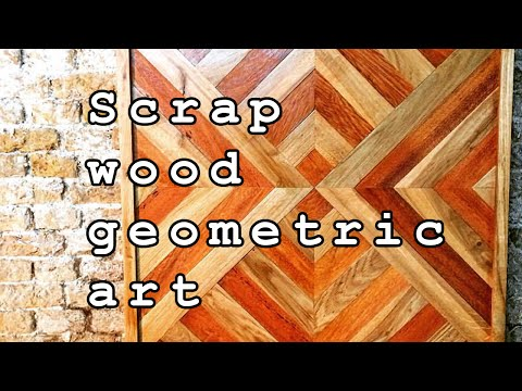 Norner   Scrap wood geometric art