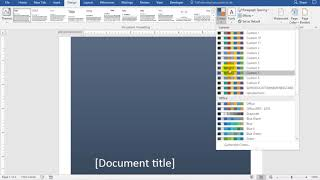 Add and Remove a Cover Page in Word 2016