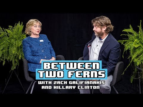 Hillary Clintonová u Zacha Galifianakise
