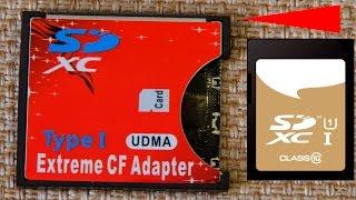Адаптер карт памяти SD SDHC SDXC на CF фото