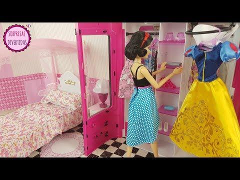 Blancanieves Dormitorio de muñeca con Armario de juguete Barbie y el príncipe Encantador