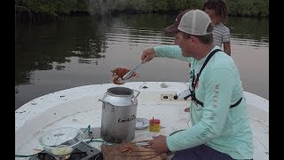 how to catch Maryland Blue Crabs in Beautiful Florida river! {Catch Clean Cook}