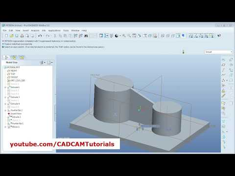 Pro Engineer Tutorial for Beginner - 5 | Pro E Profile Rib and Mirror ...