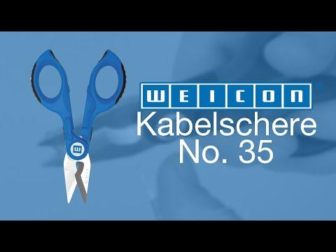 Kabel sicher schneiden und abisolieren | WEICON TOOLS Kabelschere No. 35