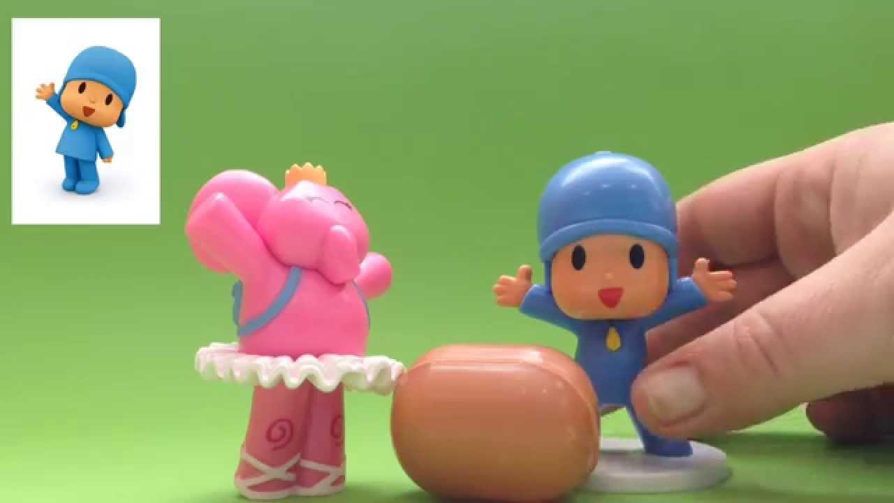 Pocoyo abre un huevo sorpresa Kinder y canta una canción