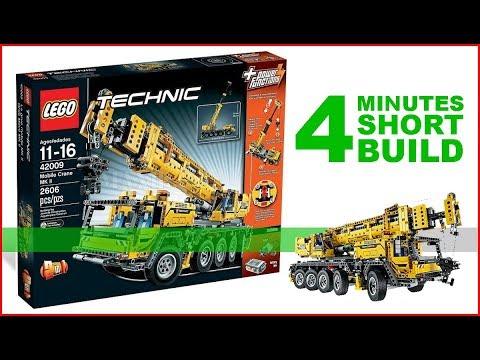 LEGO Mobile Crane MK II 42009 SHORT BUILD Technic - 4 Minutes Fast Build