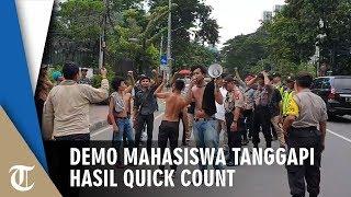 Bakar Ban, Demo Mahasiswa Tanggapi Hasil Quick Count Berakhir Ricuh