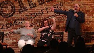 Rick Koster goes on stage with hypnotist Jim Spinnato