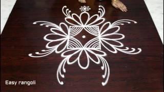 easy creative rangoli designs with 3x3 dots - beautiful kolam designs - easy rangoli designs
