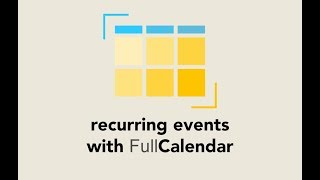 Episode #094 - Recurring Events on FulCalendar