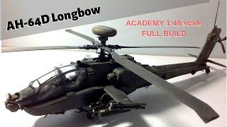 Academy AH-64 Longbow Apache full build 1:48